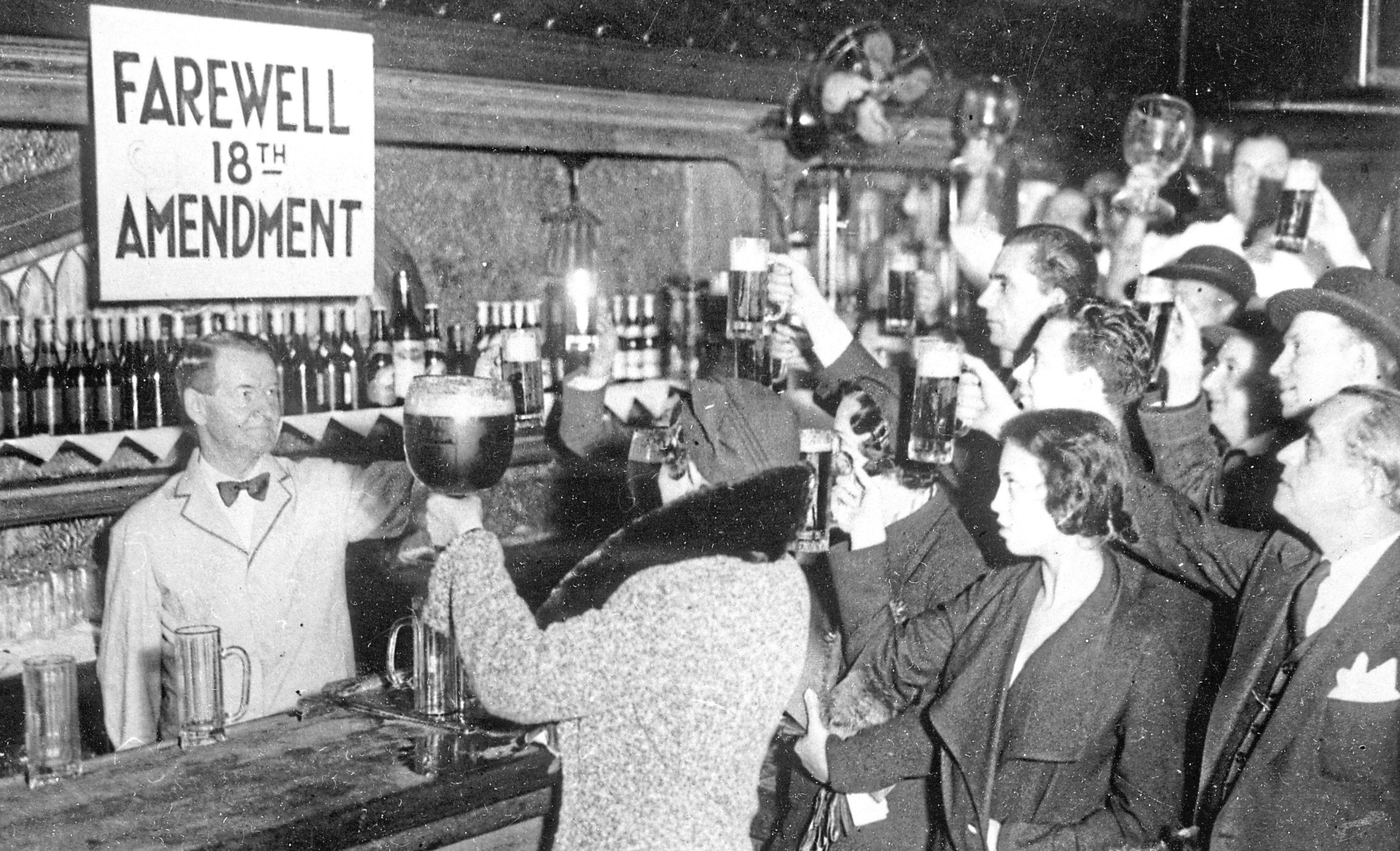 People of New York celebrating the end of the Prohibition with beer, 1933  (Imagno/Getty Images)