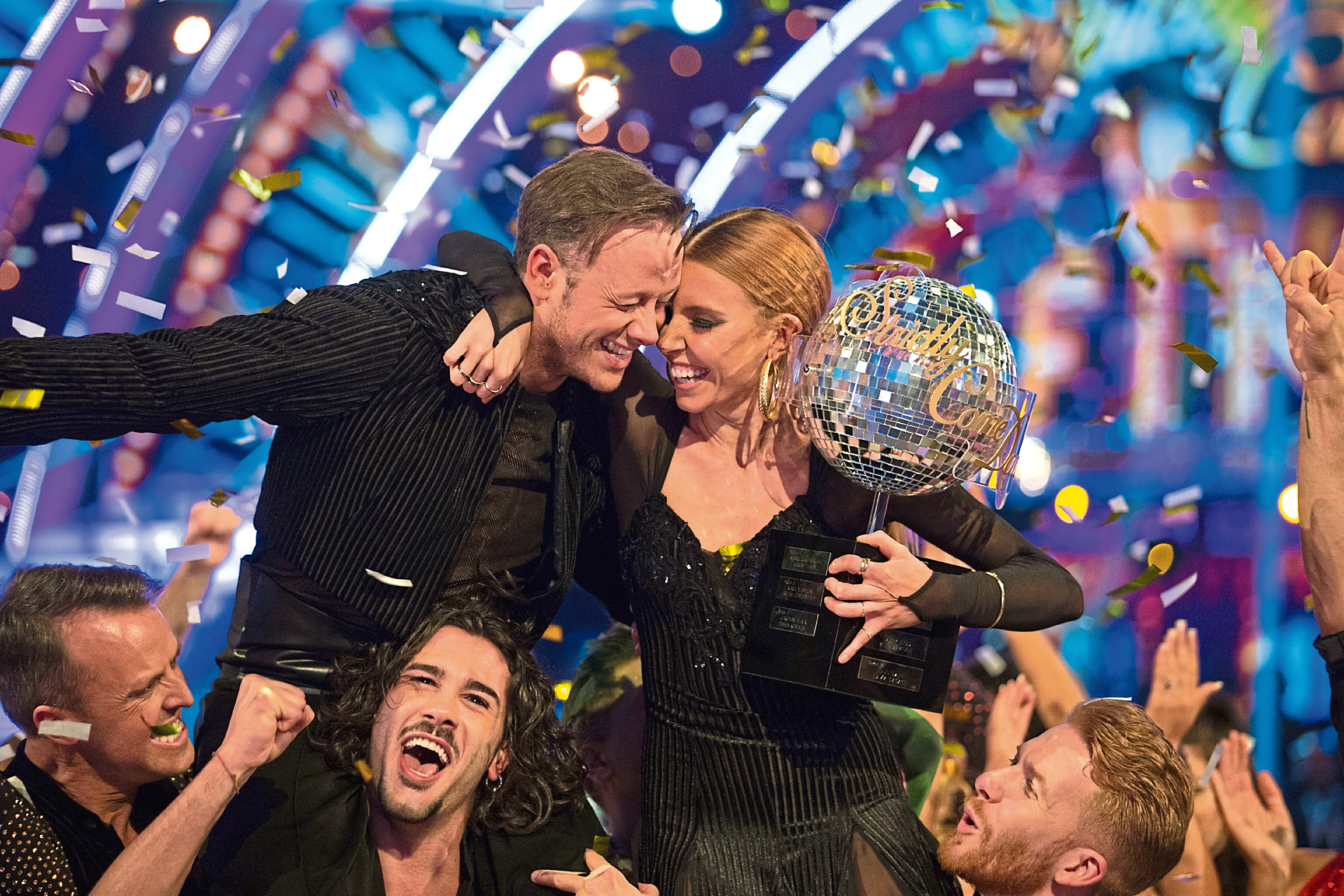 Stacey Dooley and Kevin Clifton win the coveted glitterball (BBC / Guy Levy)