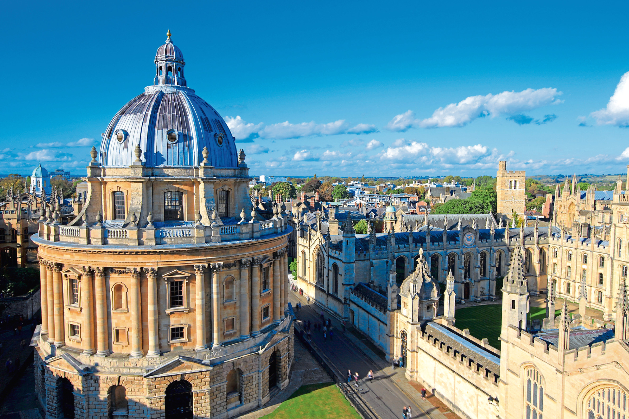 The Oxford University City. St Marys Church, All Souls College, England.