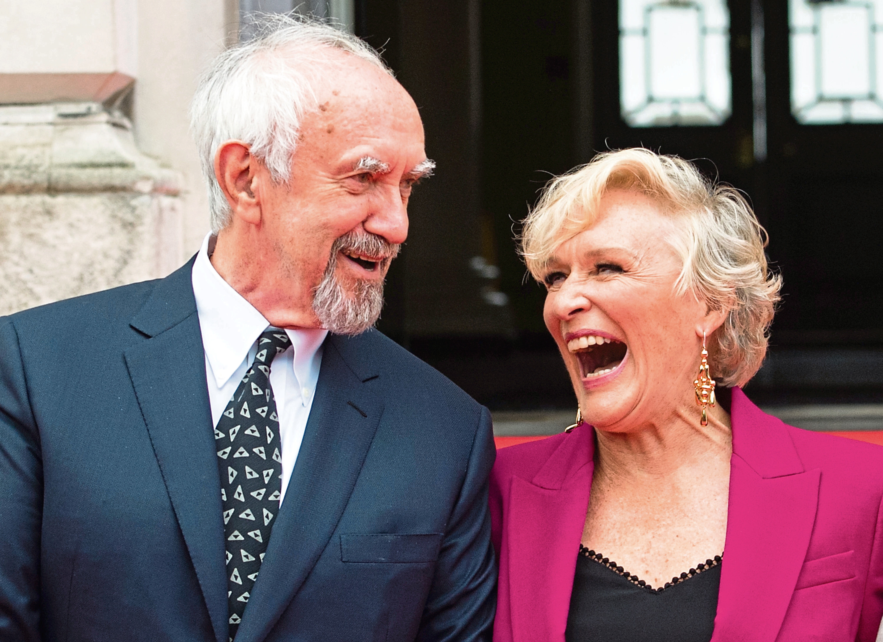 Jonathan Pryce and Glenn Close attend the UK Premiere of 'The Wife'. (Samir Hussein).