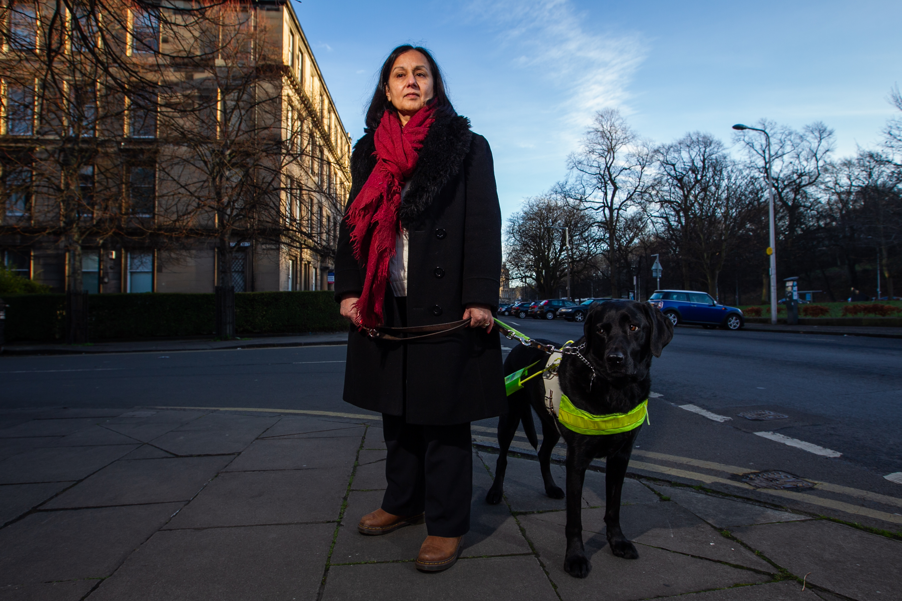 Jamilia Shaikh, and her guide dog Bubbles (Andrew Cawley)