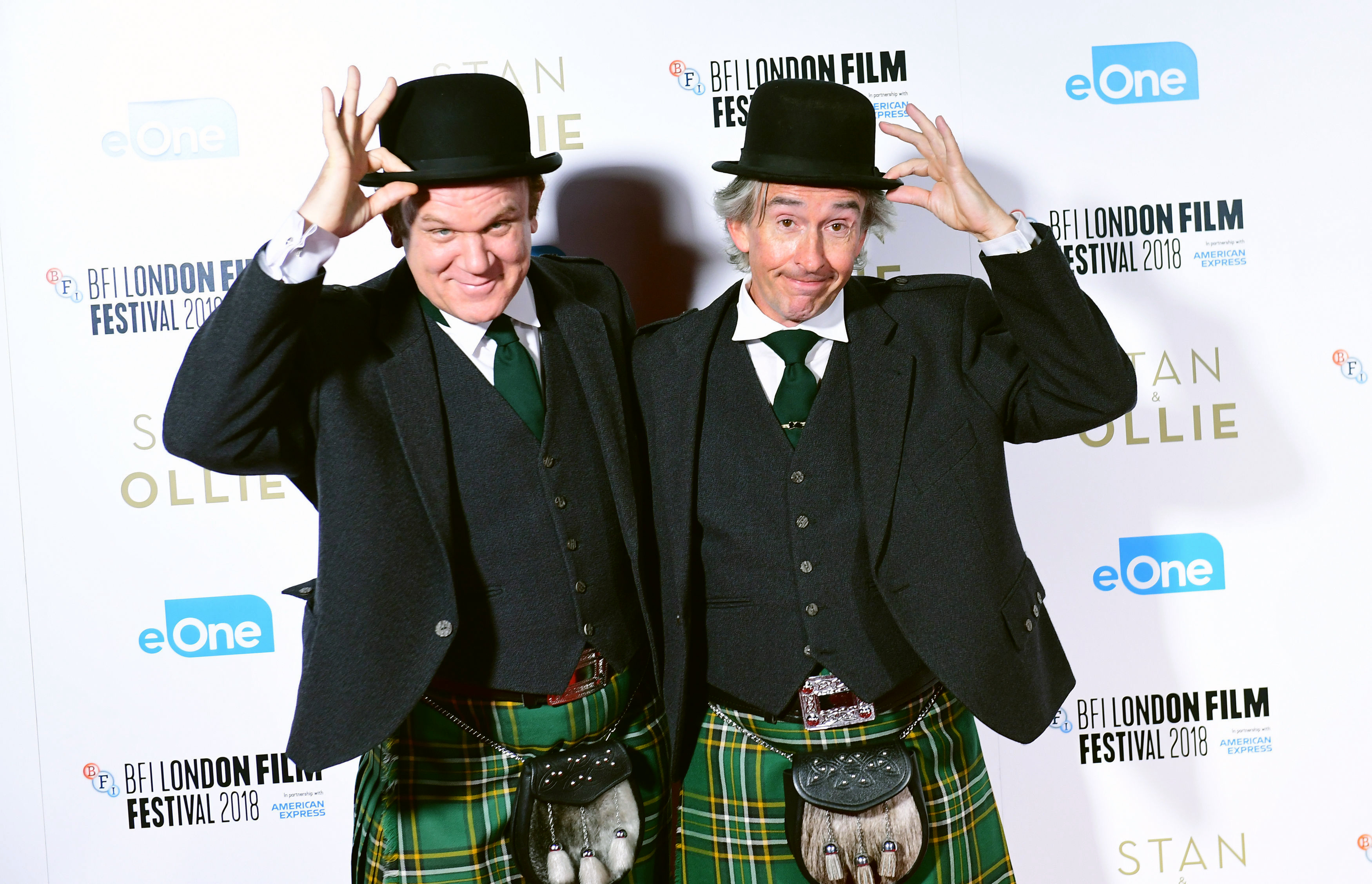 John C. Reilly and Steve Coogan attending the Stan and Ollie Premiere (PA)
