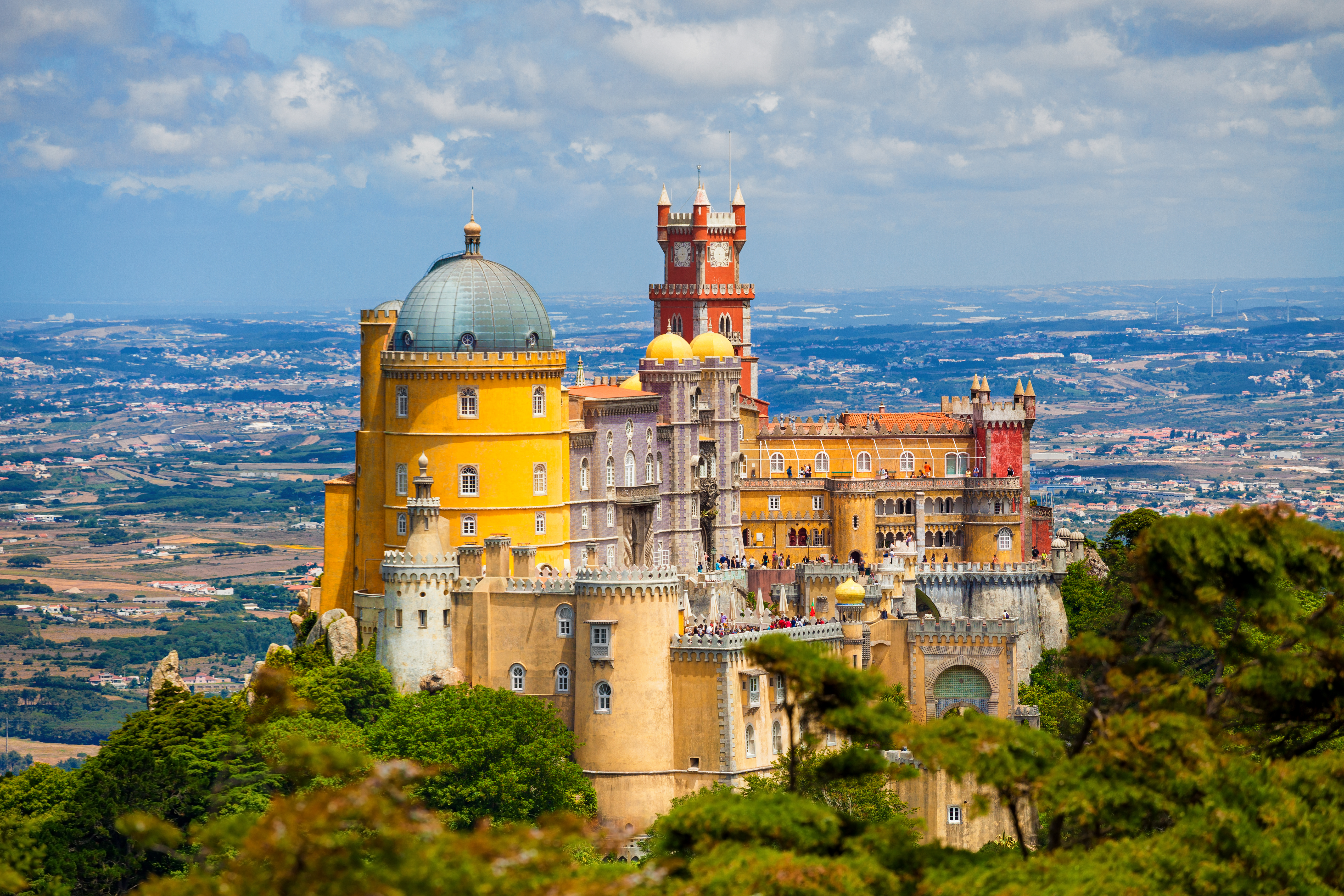 Pena National Palace above Sintra (Getty Images)
