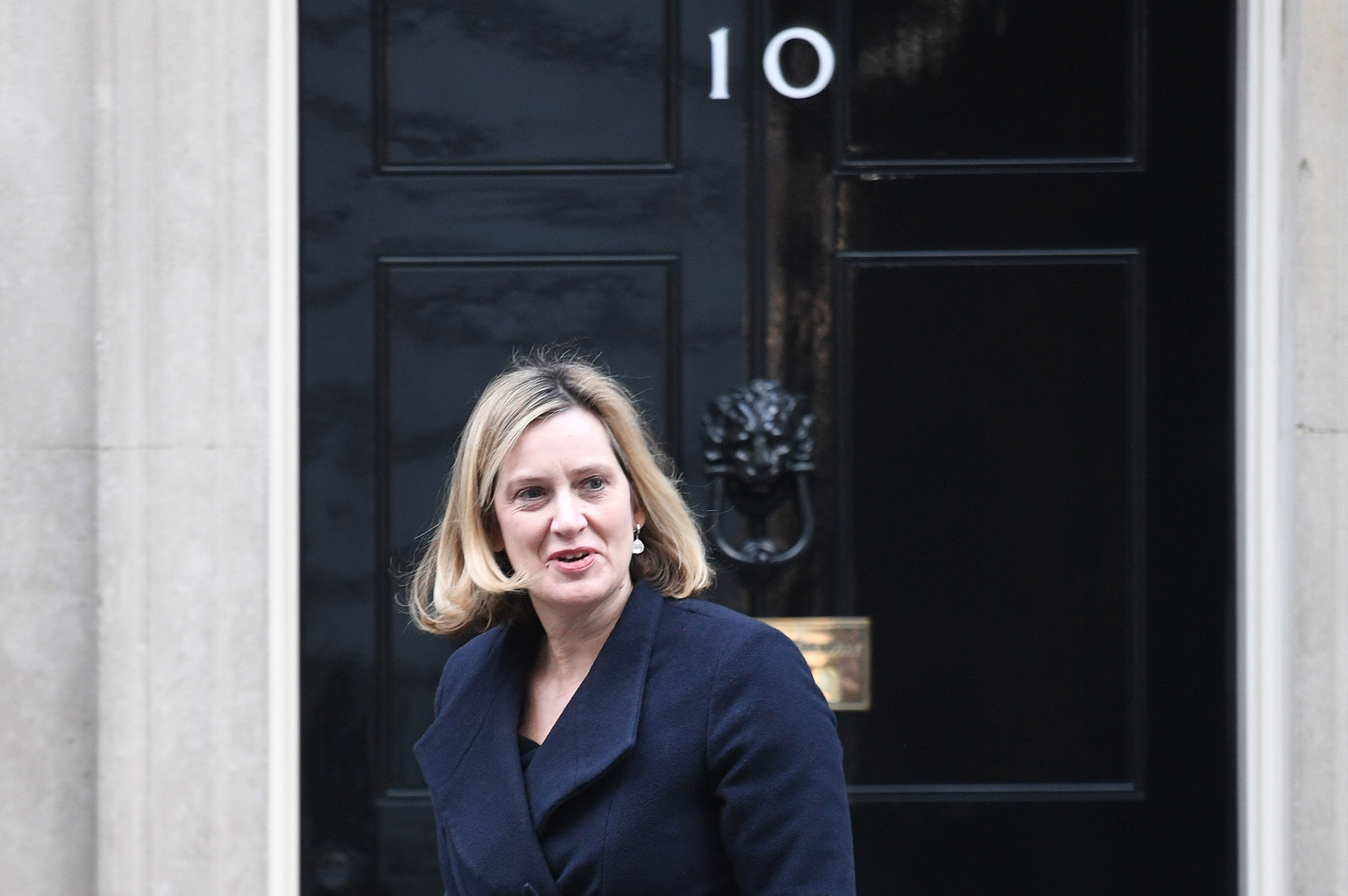 Work and Pensions Secretary Amber Rudd leaves 10 Downing Street, London, after a meeting of the cabinet. (Stefan Rousseau/PA Wire).