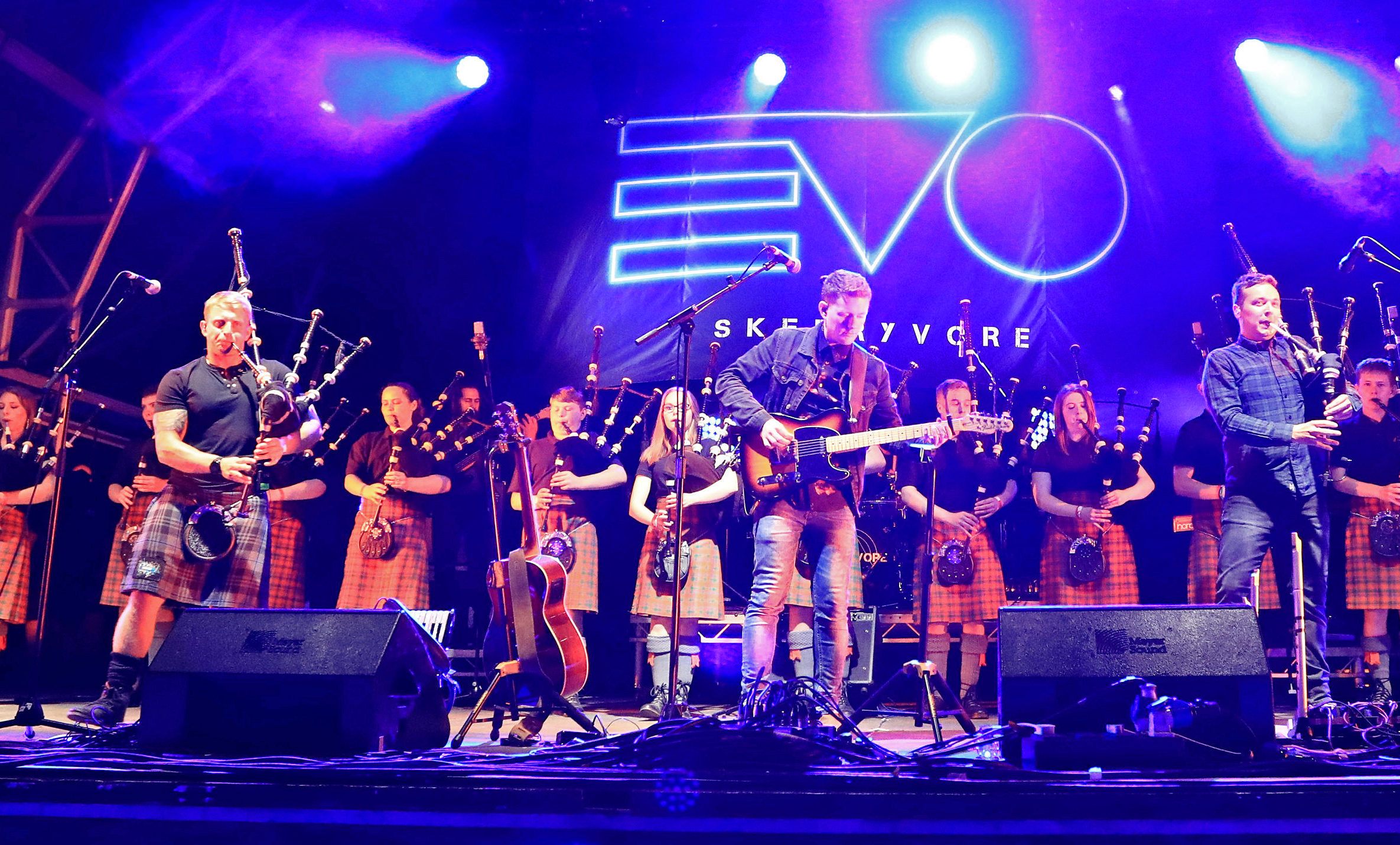 Skerryvore are joined by the school band at Oban Live