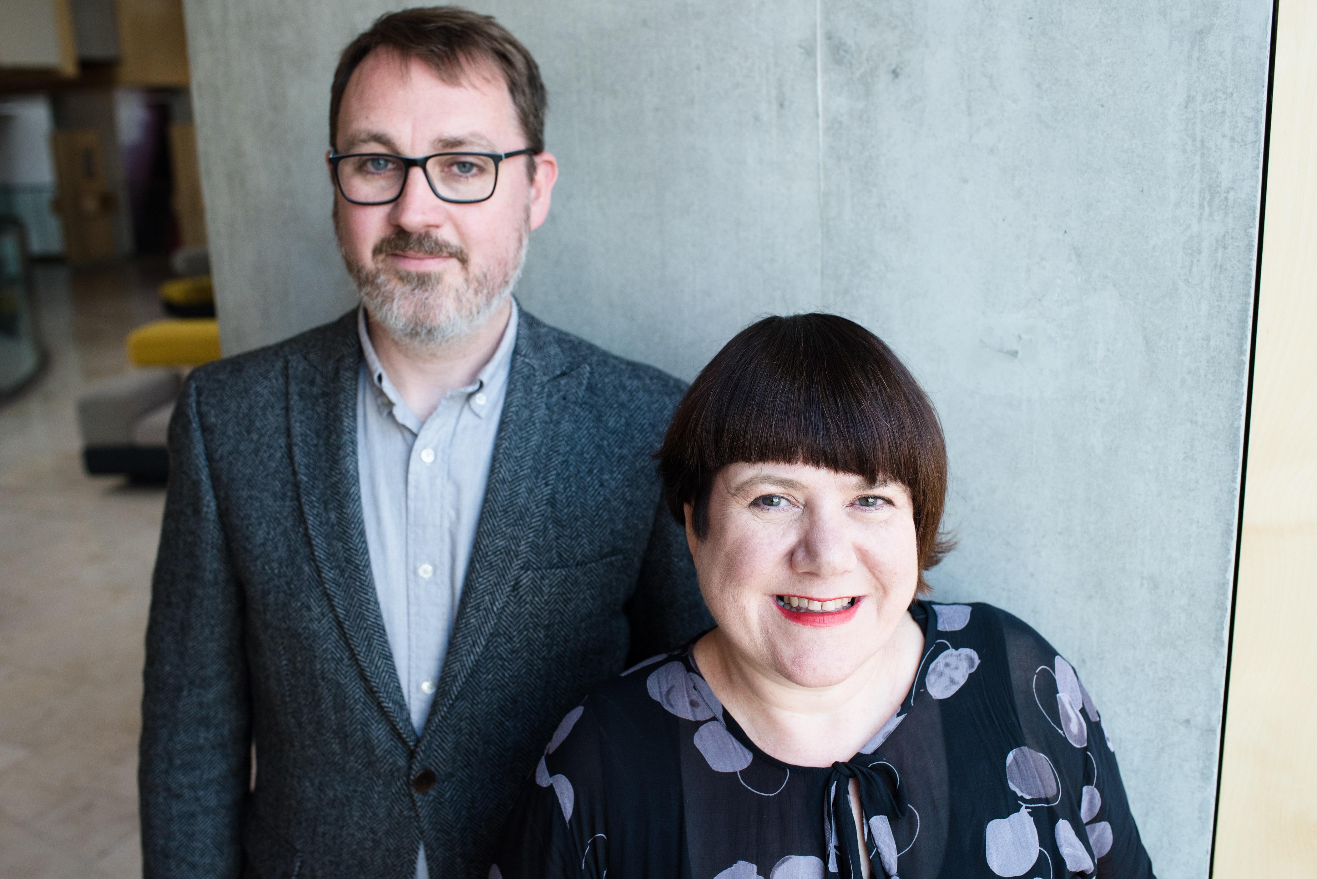 Stuart MacRae and Louise Welsh. Scottish Opera. (Julie Broadfoot)