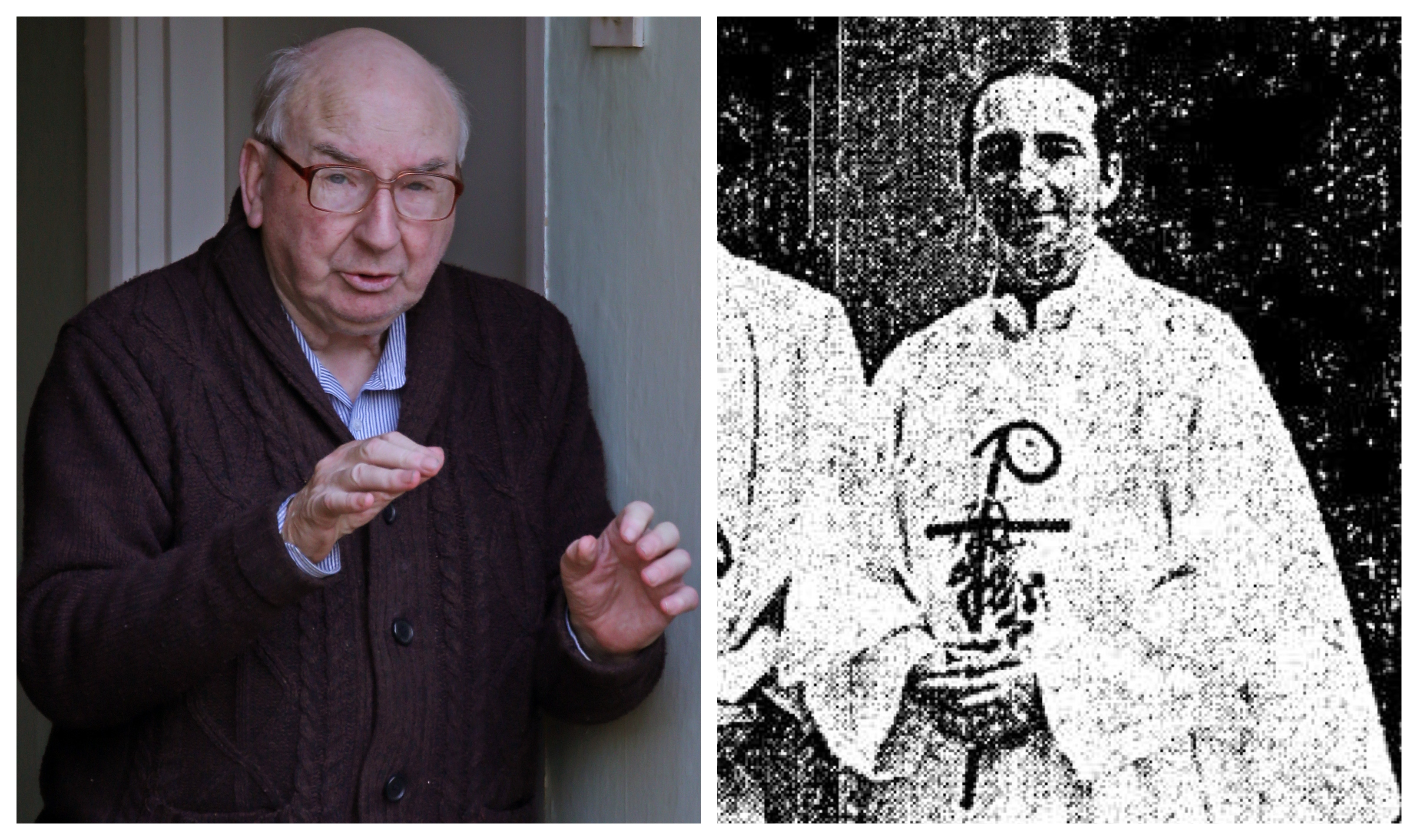Father Joseph Dunne, now living in Ireland (left) was ordained in 1975 (right)