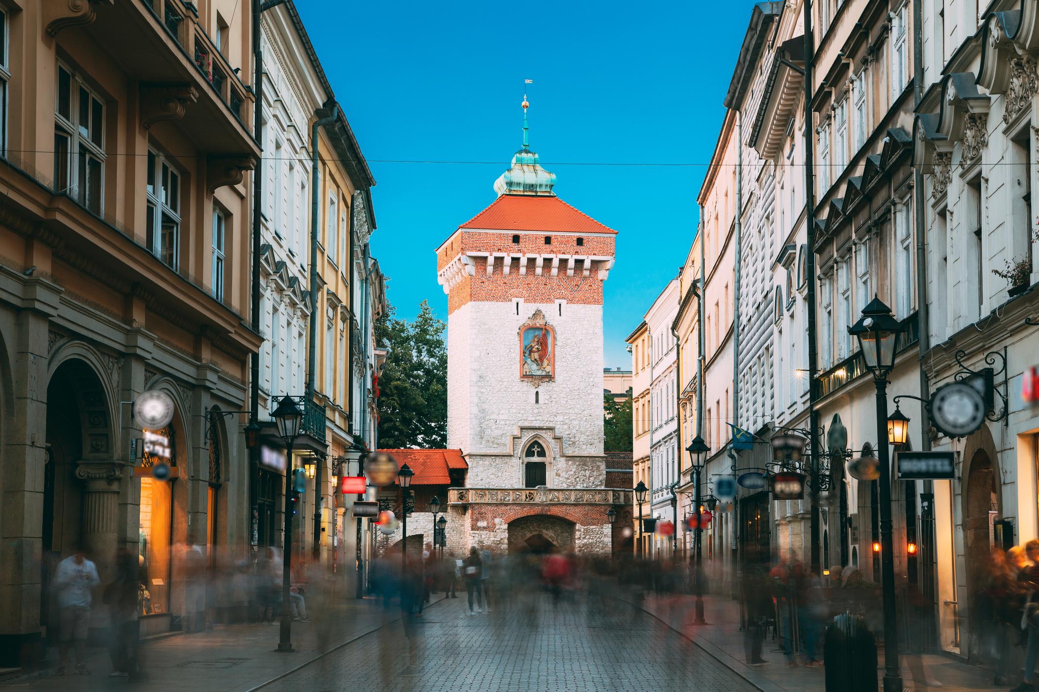 Krakow, Poland. Florianska Gate Krakow, the Medieval Florianska - St Florin's. UNESCO World Heritage Site. (iStock)