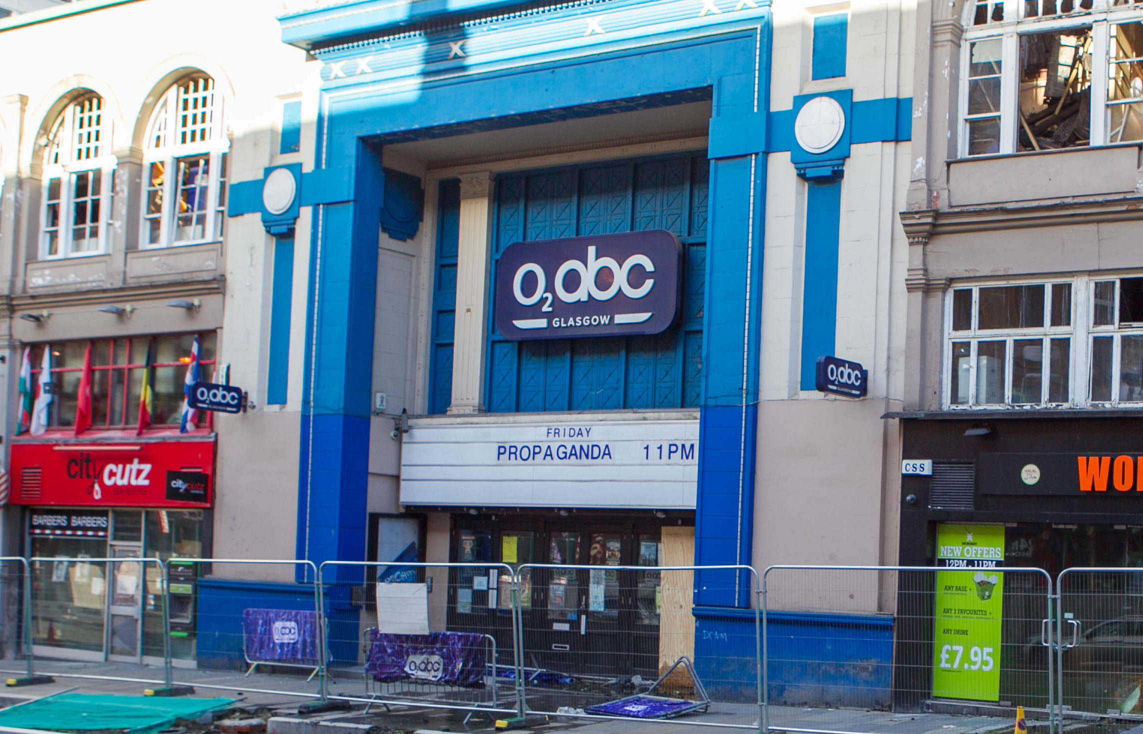 The O2 ABC in Glasgow after the fire (Chris Austin / DCT Media)