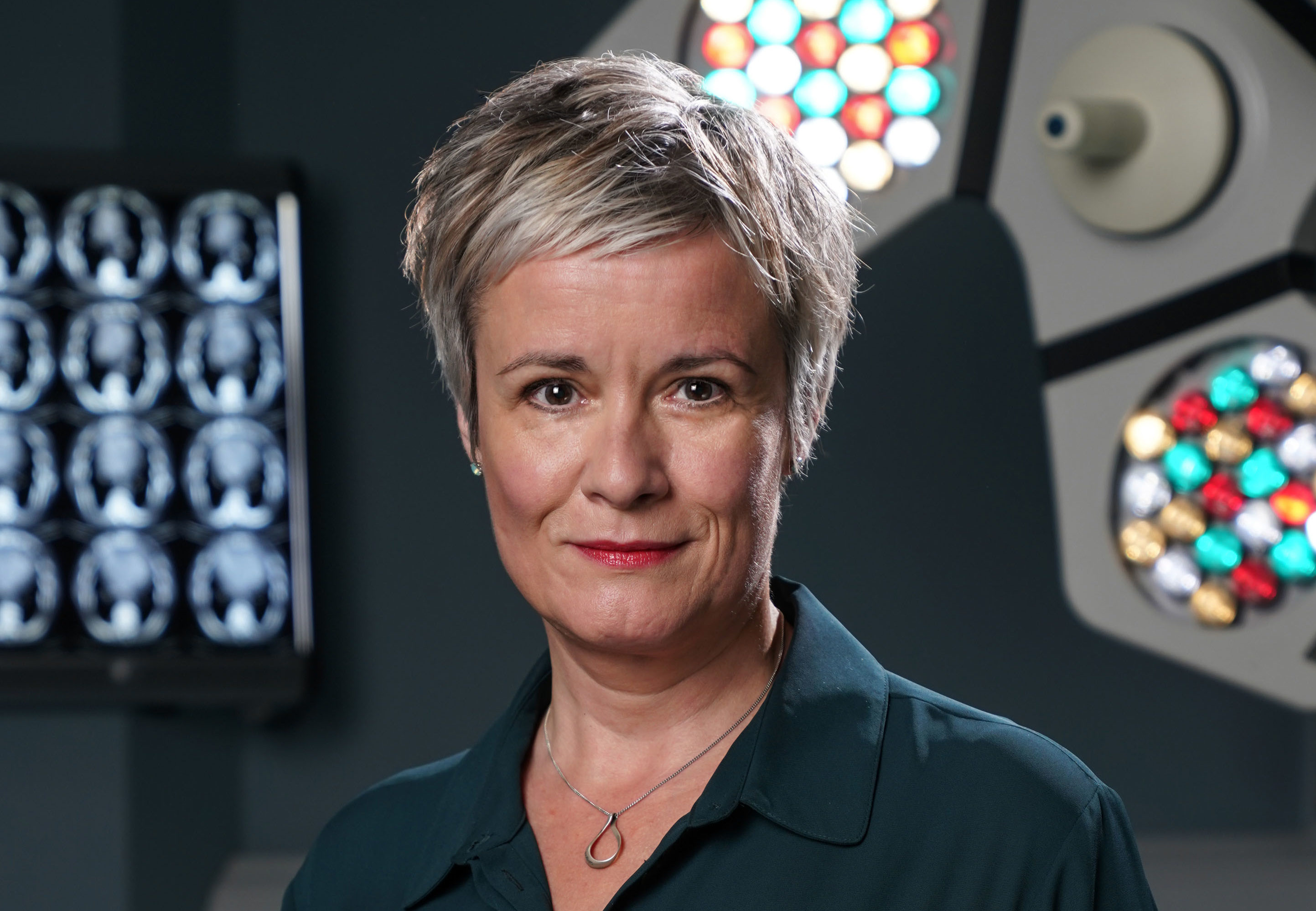 Catherine Russell on the set of Holby City. Kieron McCarron)