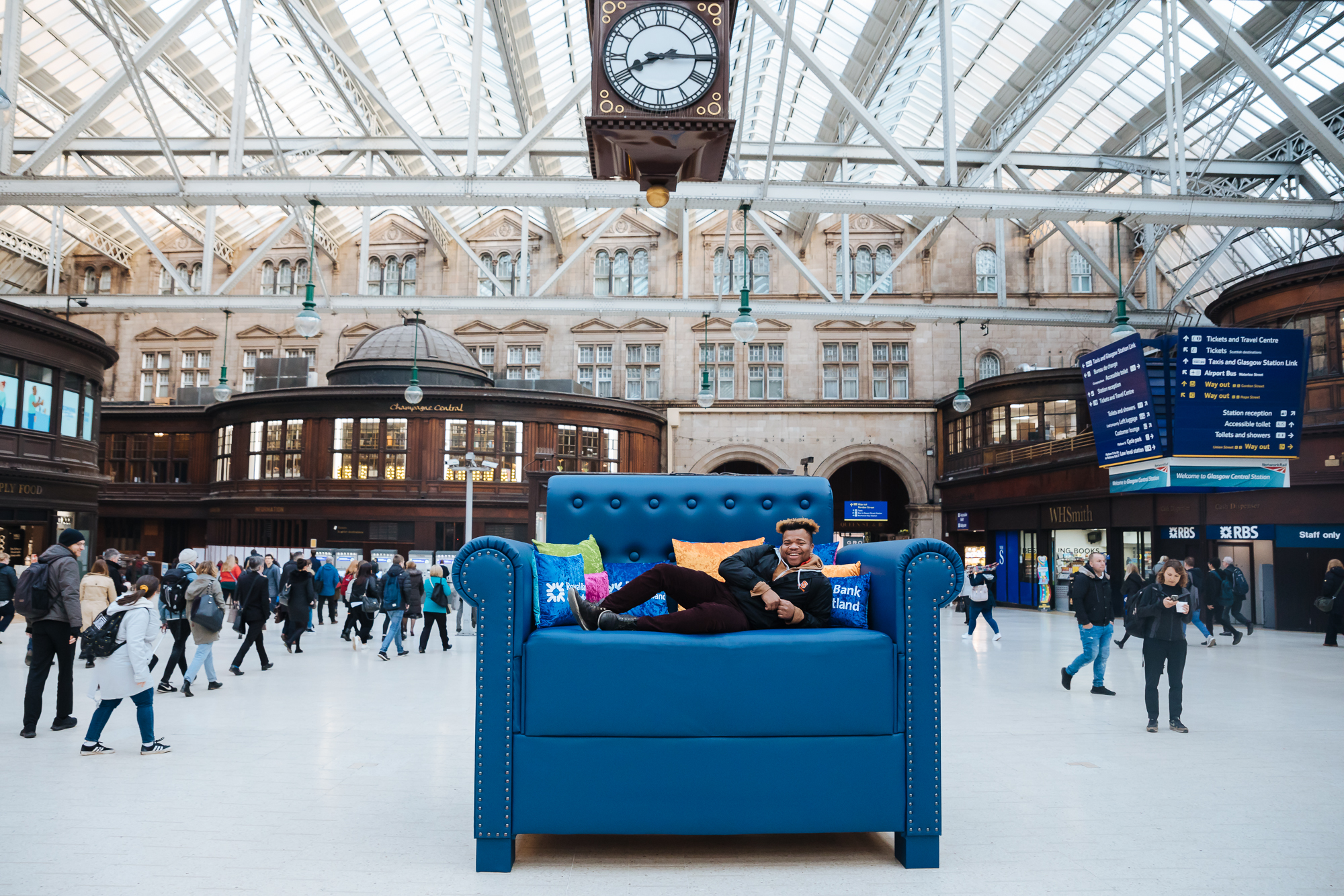 Scotland's biggest Easy Chair in Glasgow Central this morning highlighted the study by RBS