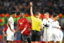 Paul Pogba sees red in the Champion's League