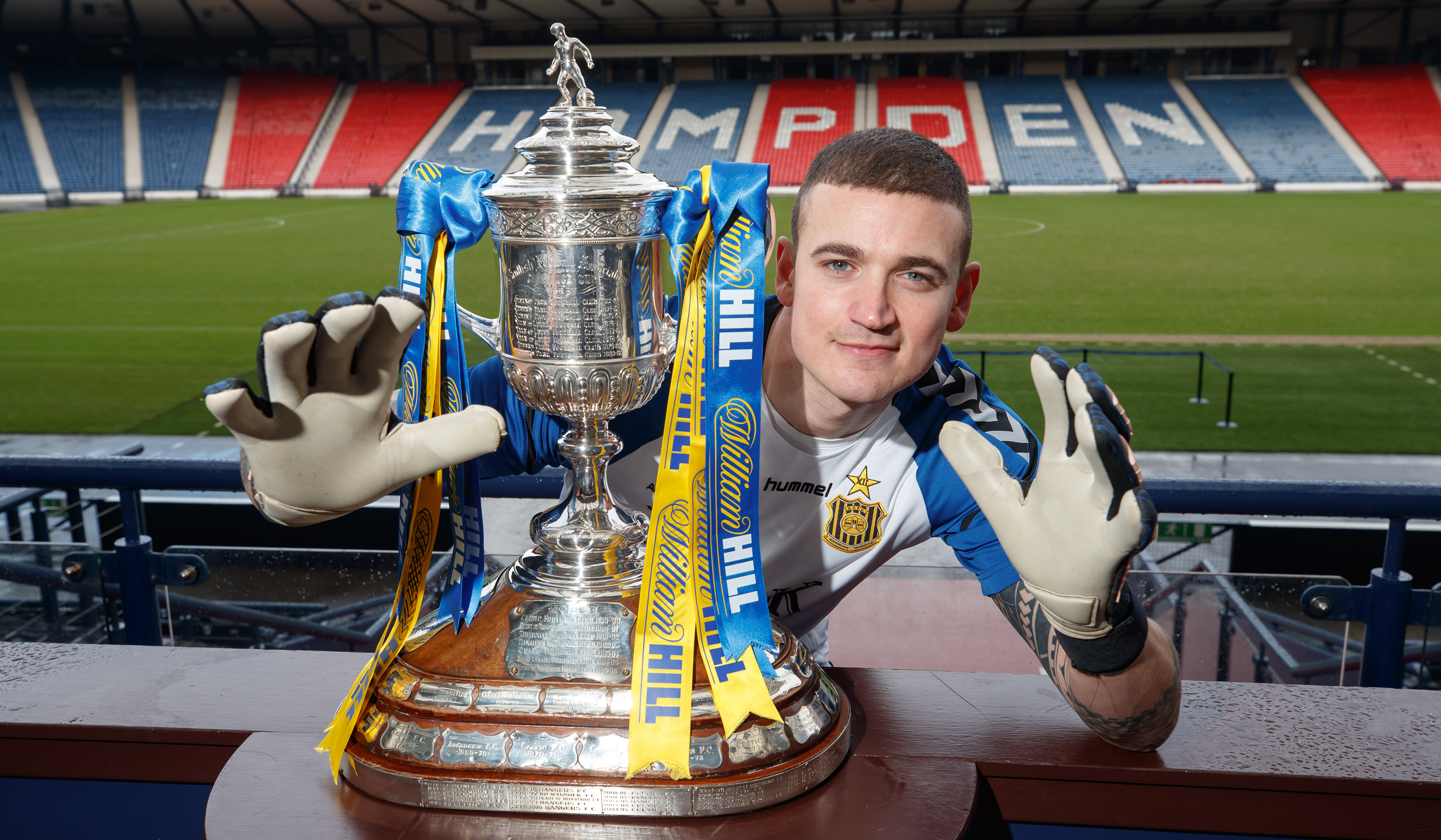 Andy Leishman would love to be this close to the Scottish Cup come Final day on May 25, but knows that is a very long shot (Steve Welsh)