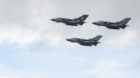 RAF Tornado GR4 jets during a farewell flypast