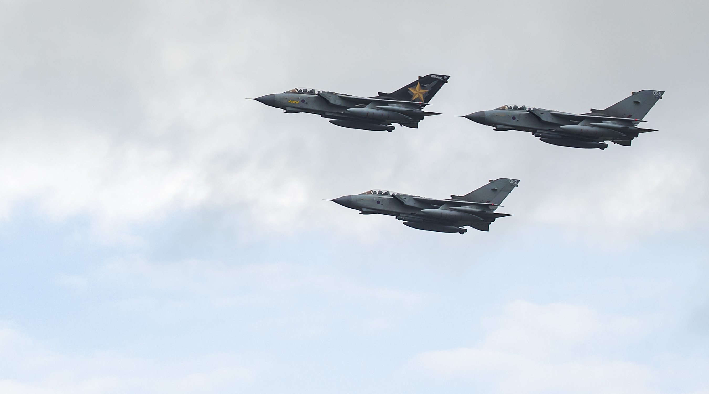 RAF Tornado GR4 jets during a farewell flypast