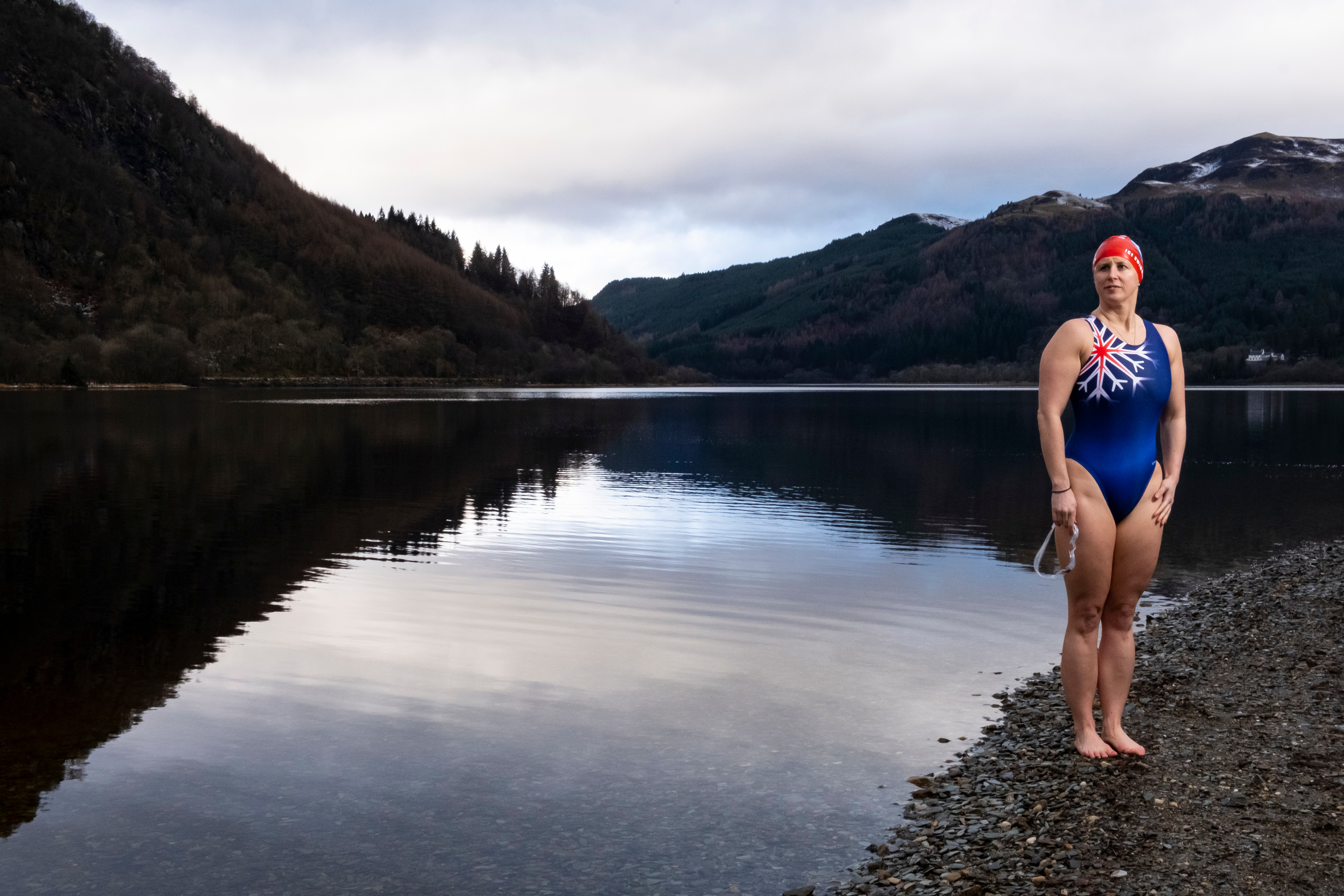 Ice Swimmer Jade Perry. (Tina Norris)