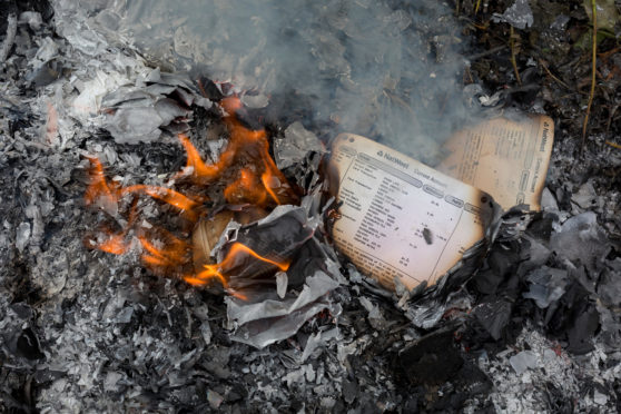 Whistleblower claims officers from Scottish drug enforcement unit burned files in a cover-up bid.