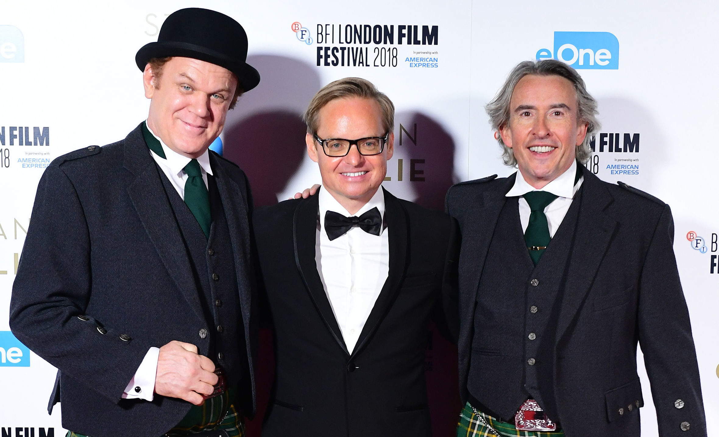 John C. Reilly, Jon S.Baird and Steve Coogan on the red carpet (PA)