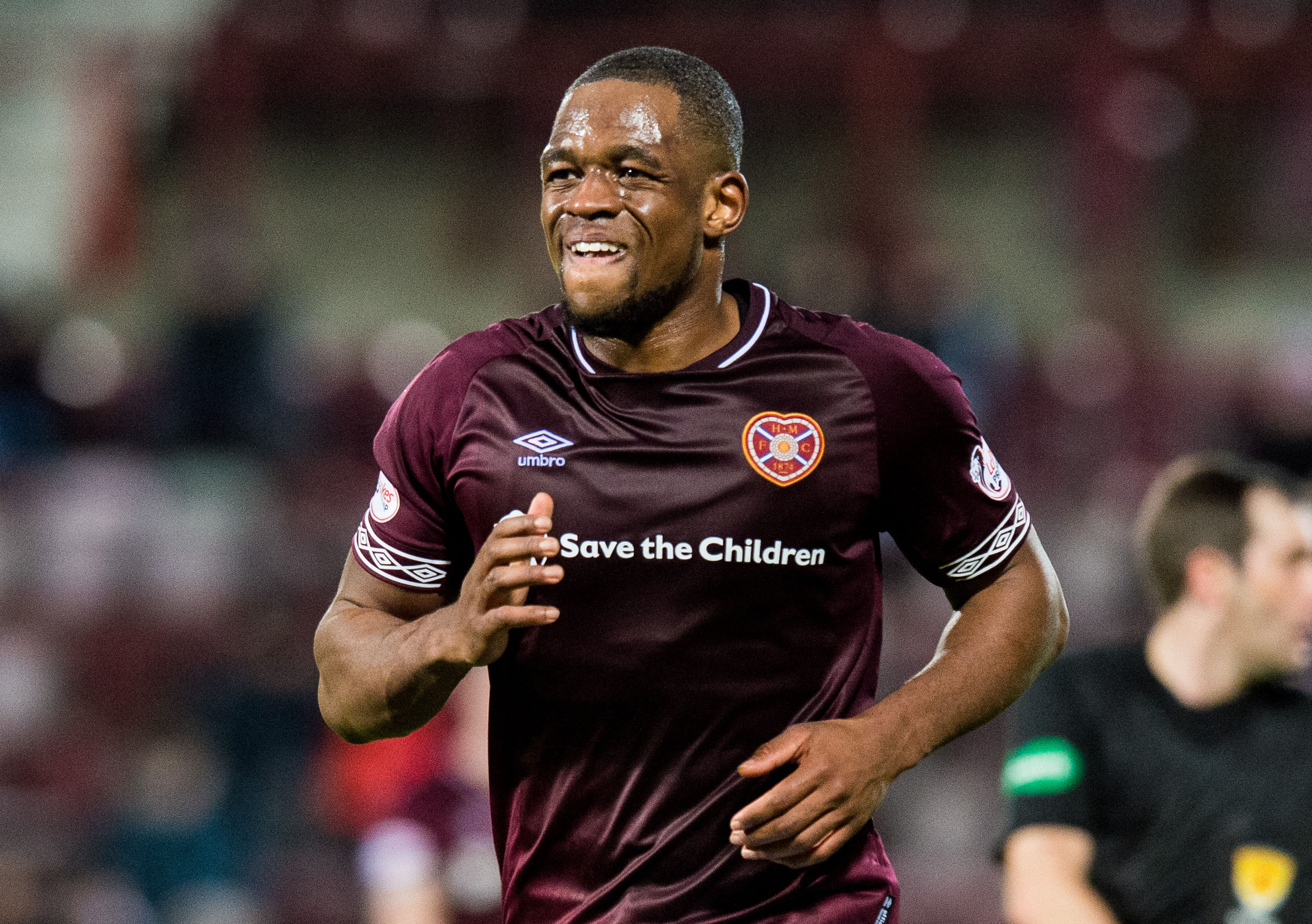 Uche Ikpeazu in action for Hearts (SNS Group / Ross Parker)