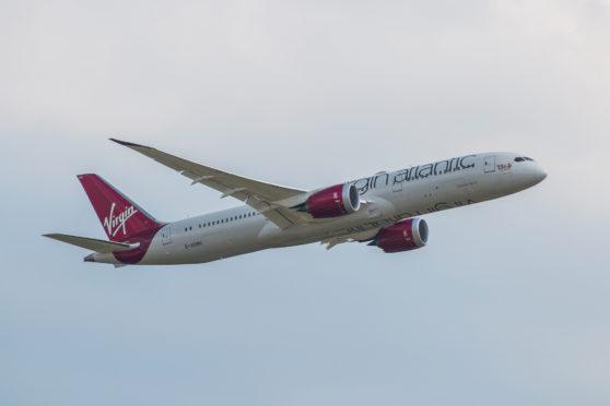 A Virgin Boeing 787 Dreamliner
