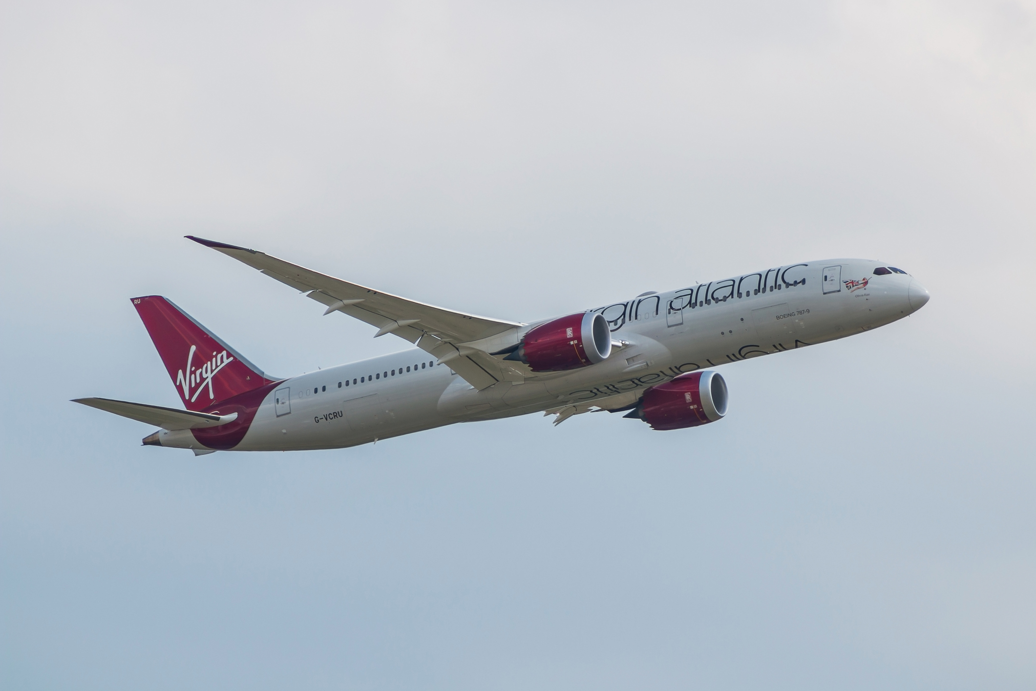 A Virgin Boeing 787 Dreamliner