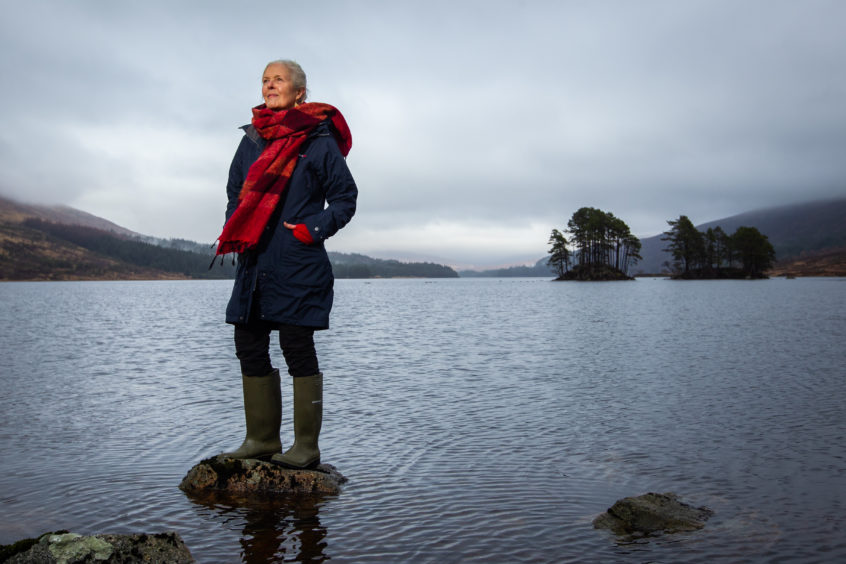 Loch Ossian provides the backdrop for Jan Robinson as she takes a break from her dream job, running a                        hostel in the middle of a spectacular wilderness
