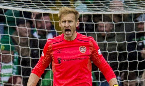 Hearts' goalkeeper Zdenek Zlamal