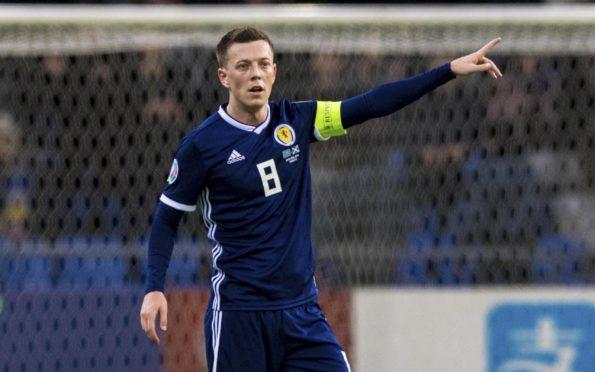 Callum McGregor captaining Scotland