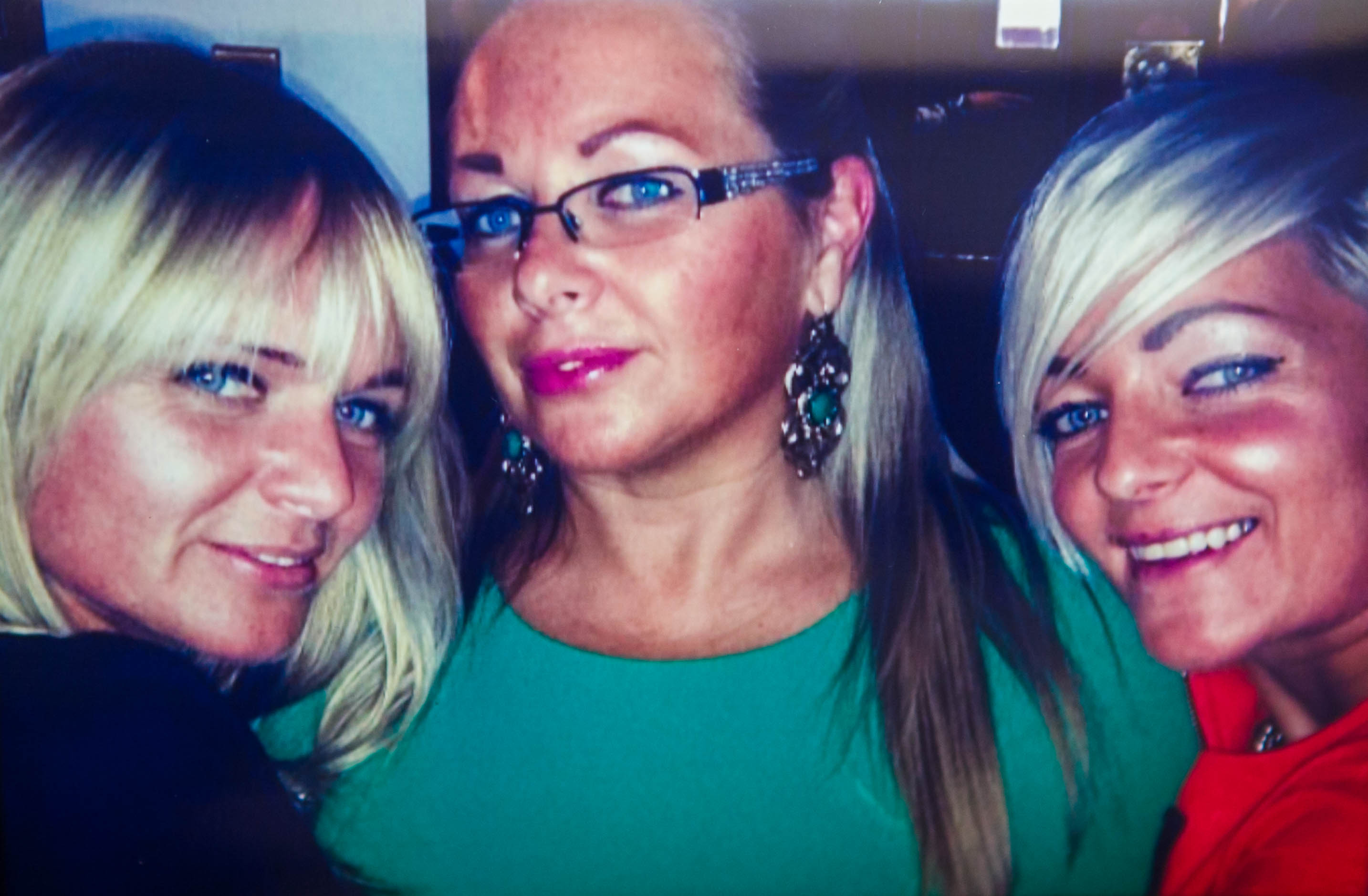 Elaine, centre, with sisters Leanne, left and Maryellen