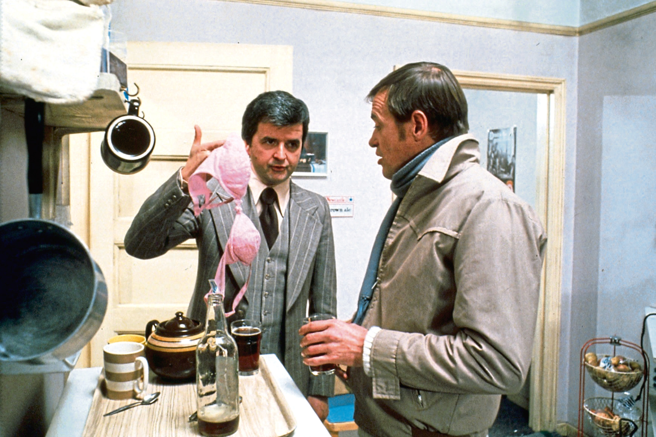 Rodney Bewes and James Bolam as Bob and Terry in the movie version of The Likely Lads