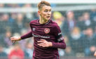 Harry Cochrane in action for Hearts