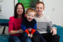 Martin Taylor with his wife Fiona and son, Cohen. Martin has Parkinsons Disease, but is upbeat about his condition, as he tells in a BBC Alba documentary about it. Location: Edinburgh