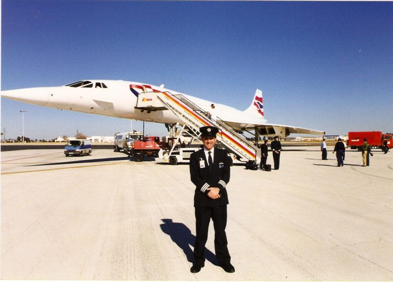 Captain John Tye, who flew Concorde