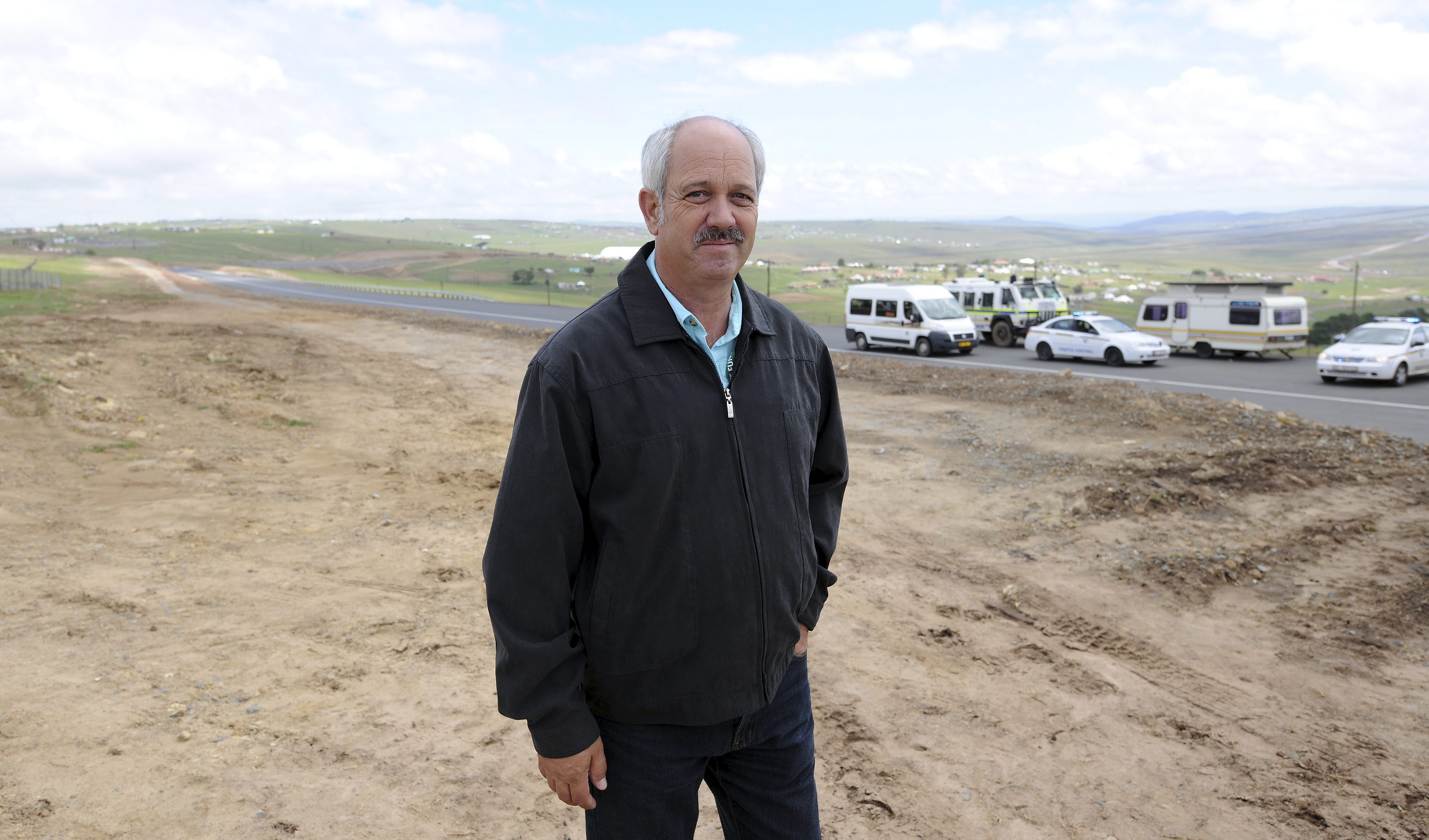 Christo Brand, Madiba's ex-prison guard, ahead of Nelson Mandela's State Funeral,  on December 14, 2013 in Qunu, South Africa.