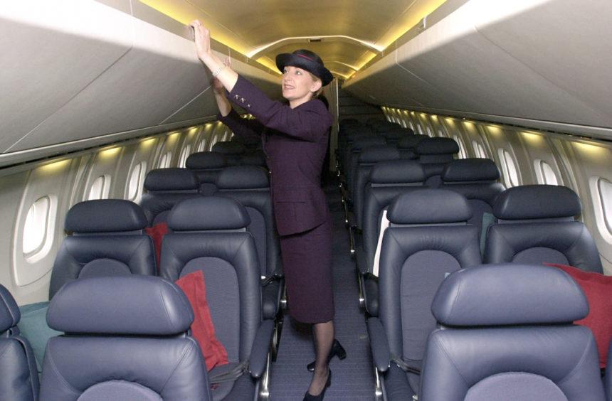 Concorde stewardess, Dawn Maskrey on board