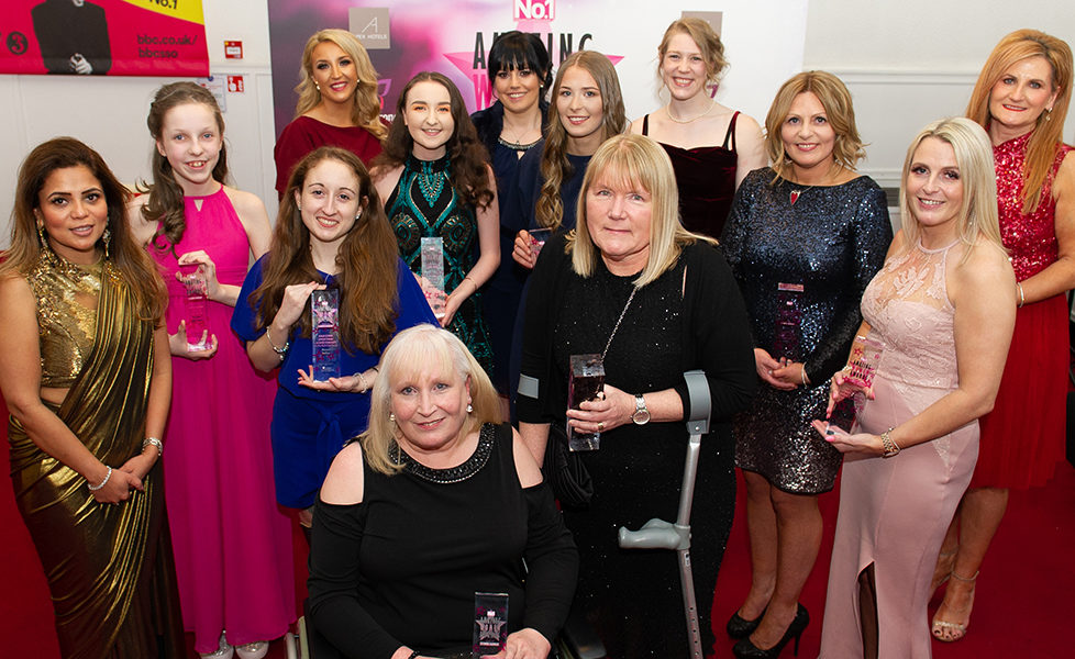 No1 Magazine Amazing Women Awards Night. Picture Shows; the award winners, The Old Fruit Market, Glasgow, 07th  March 2019.