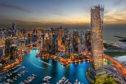 Dubai skyline by night