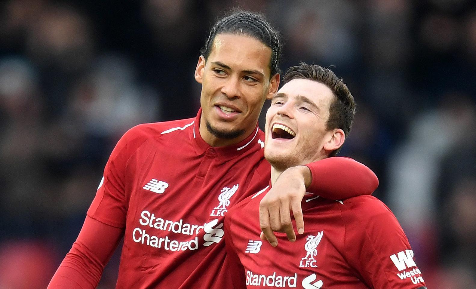 Liverpool's Virgil Van Dijk and Andy Robertson