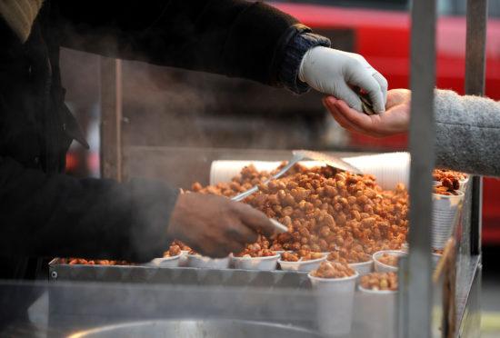 A street stall selling peanuts