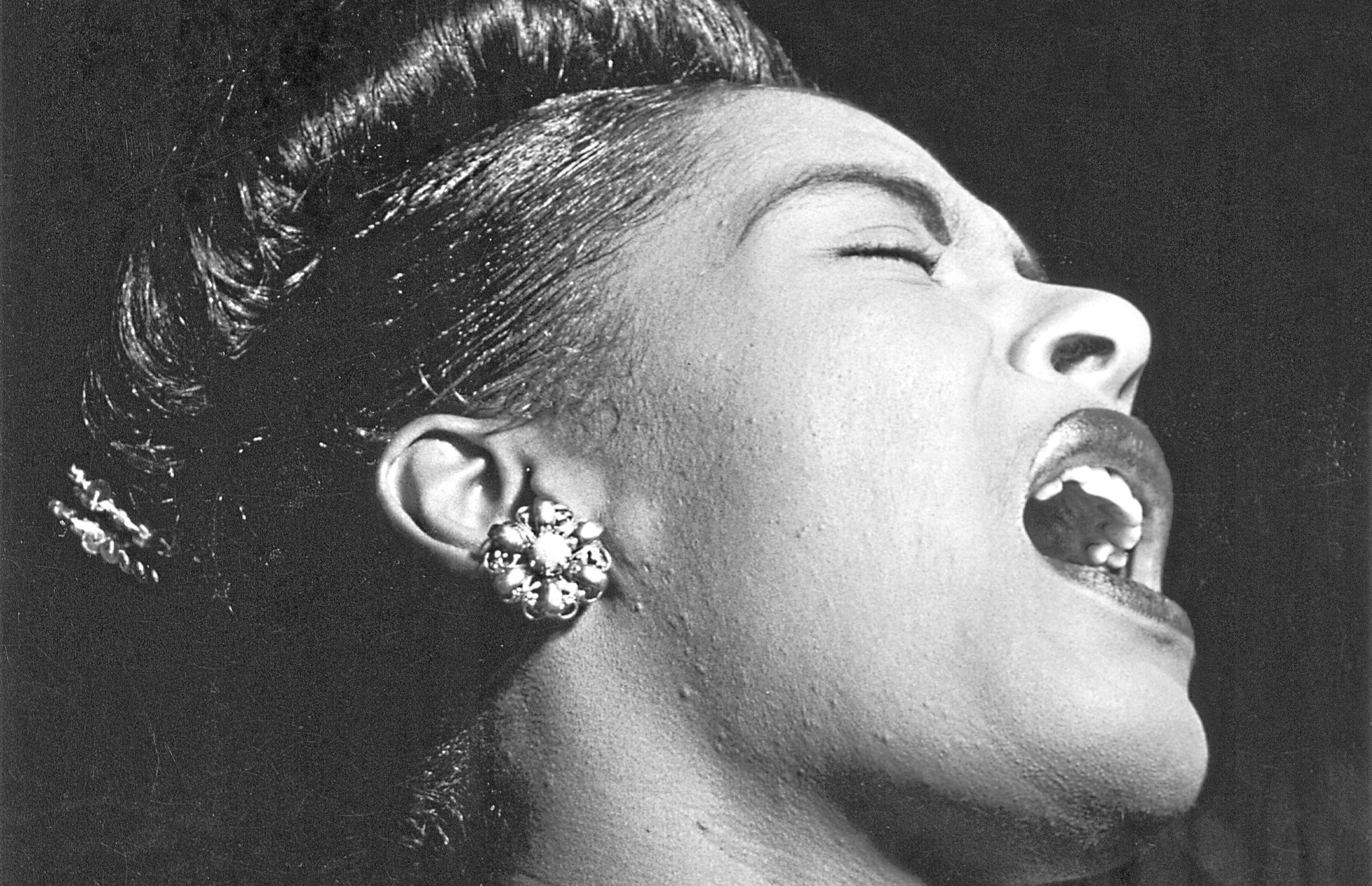 Billie Holiday performing at the Club Downbeat in Manhattan, 1947