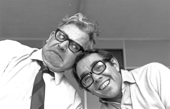Ronnie Barker and Ronnie Corbett, above and right, came together for their first joint show on April 4 1971 and ran for 12 series