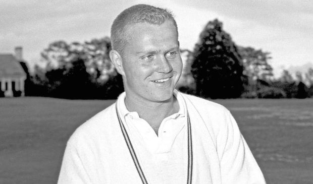 Jack Nicklaus playing as an amateur during the 1959 Masters Tournament