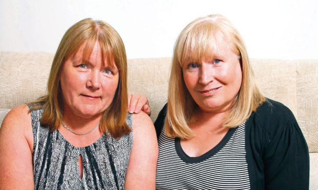 Mesh victims Elaine Holmes (right) and Olive McIlroy