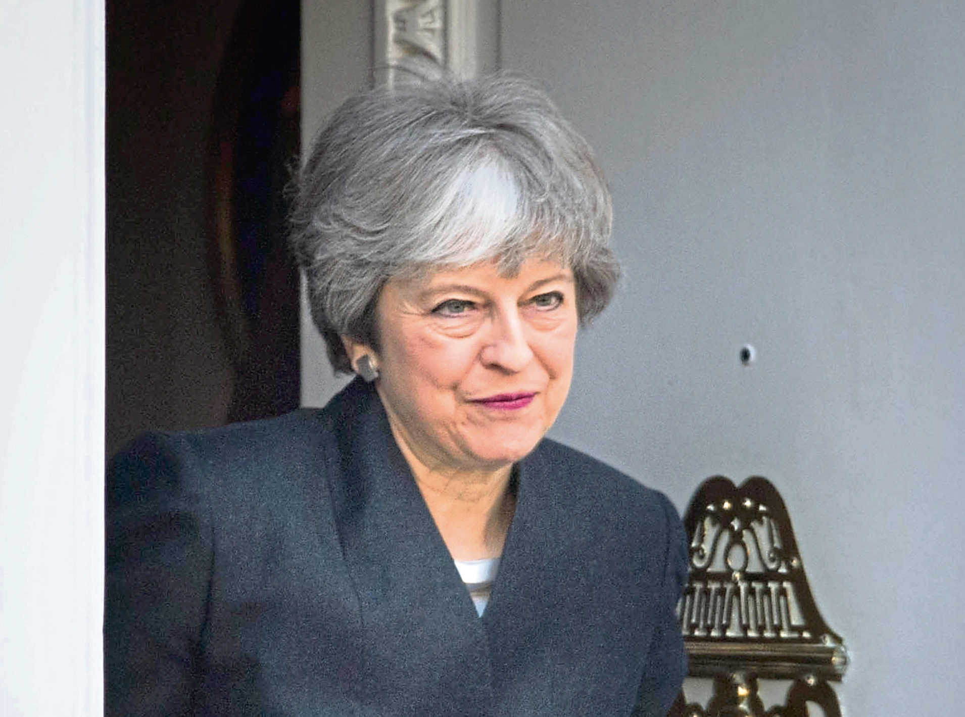 Prime Minister Theresa May leaves Brussels to return to the UK after the European Council in Brussels agreed to a second extension to the Brexit process.