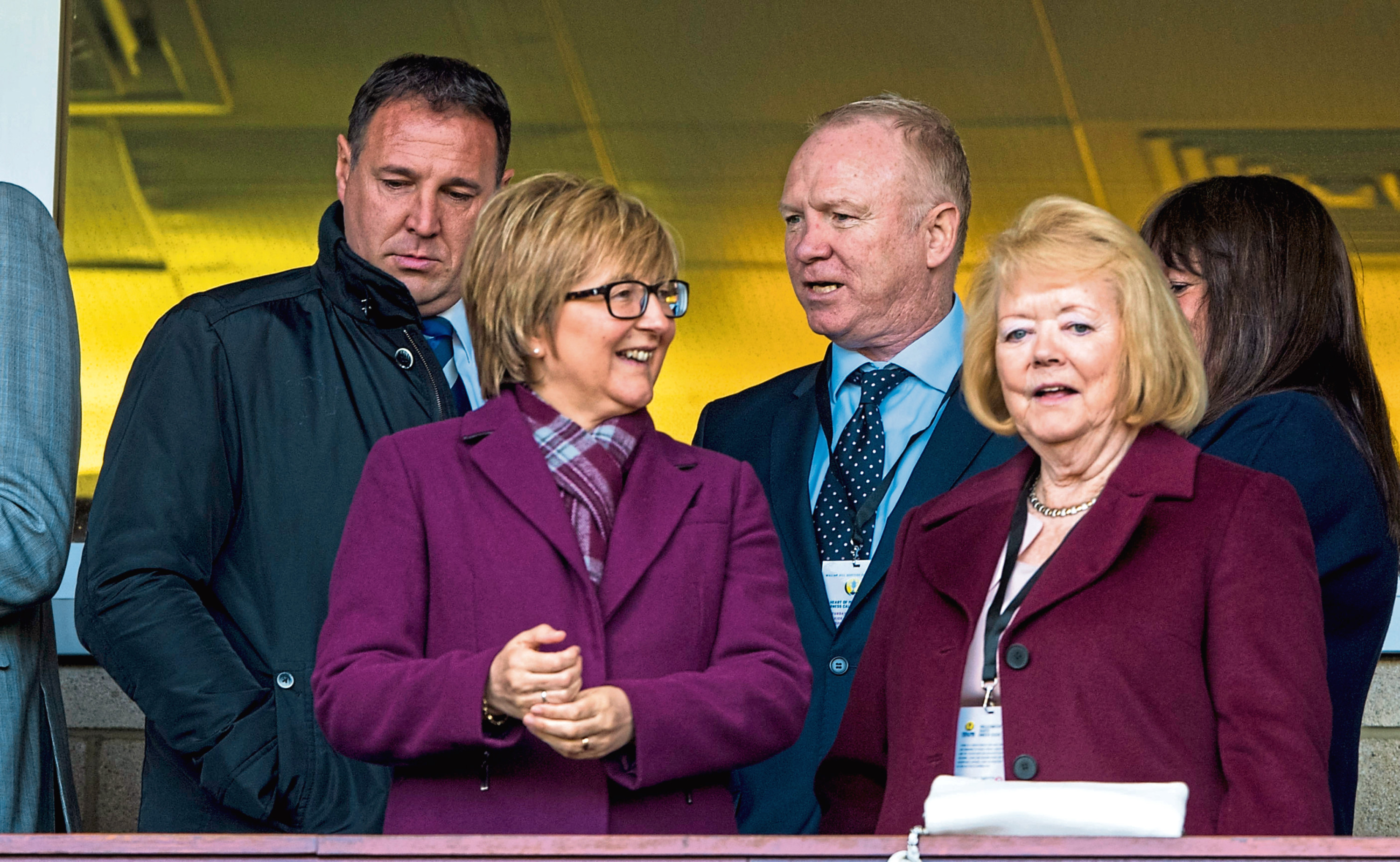 Hearts owner Ann Budge (right) watching the semi-final