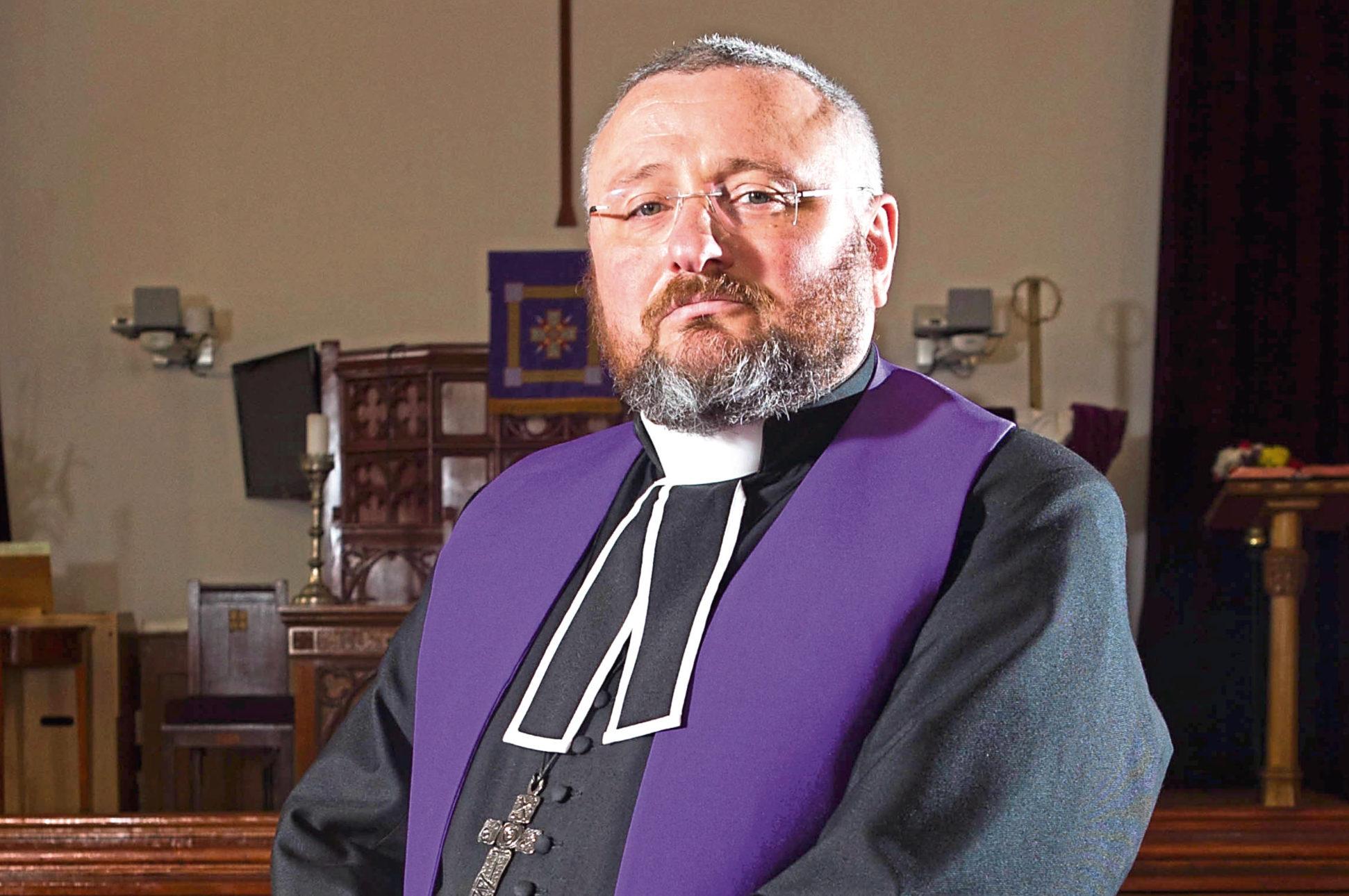 Rev Brian Casey at Springburn Parish Church