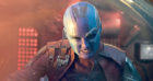 Karen Gillan, pictured playing Nebula, had to shave her head for the first Guardians Of The Galaxy film