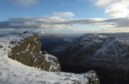 Approaching Ben Vane's summit