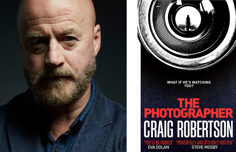 Author Craig Robertson and his book The Photographer