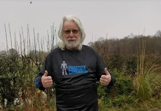 Fraser Love, 61, from Kilwinning will take part in the Kiltwalk in Glasgow this Sunday.